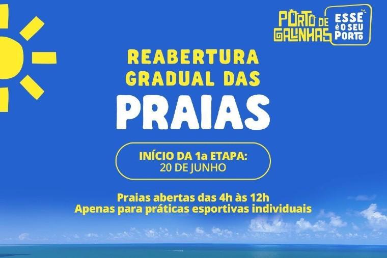 Reabertura em praias de Recife e região ocorre de maneira gradual